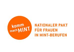 Logo: komm mach MINT - Nationaler Pakt für Frauen in MINT-Berufen